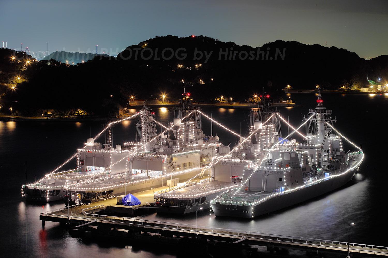 2012/10/10 Wed. JMSDF Yokosuka 電灯艦飾_b0183406_22511219.jpg