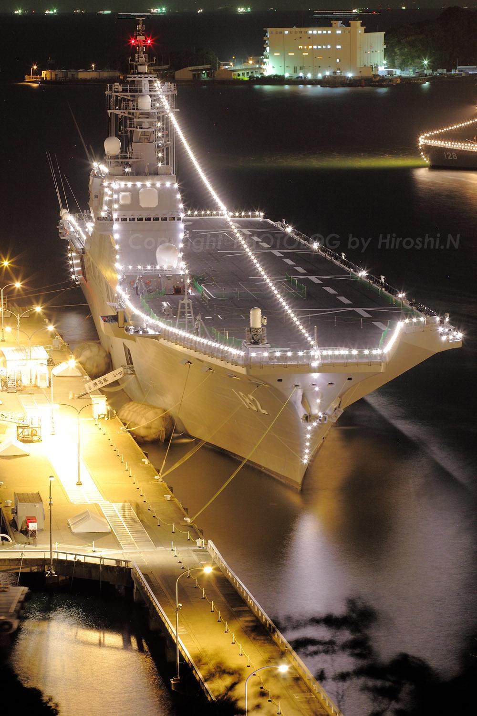 2012/10/10 Wed. JMSDF Yokosuka 電灯艦飾_b0183406_2251175.jpg
