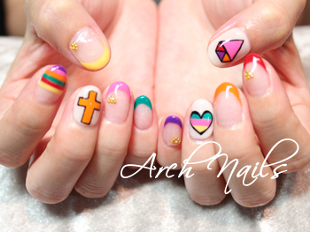 Colorful  nail_a0117115_23121152.jpg
