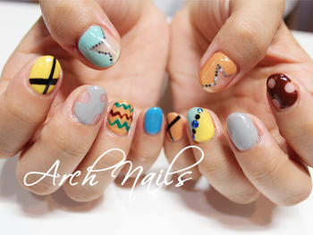 Colorful  nail_a0117115_23183523.jpg