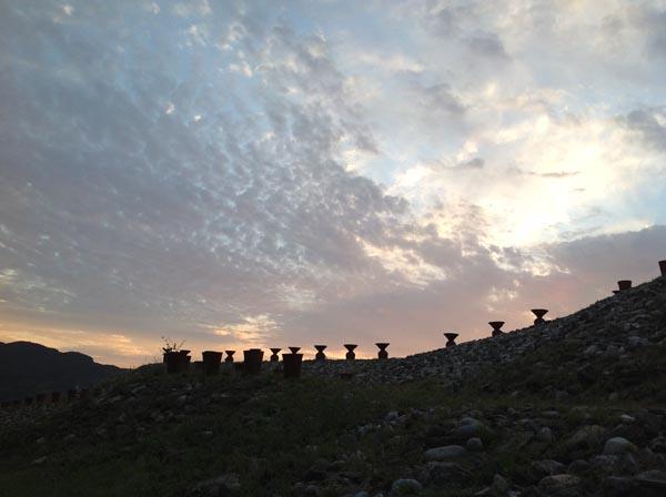 その5 茶臼山古墳上の茜空…早朝の代田八幡宮、諏訪神社_f0071303_11523289.jpg