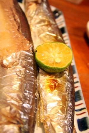 白菜と鶏肉のシンプル塩鍋 & 秋刀魚!!_f0141419_6132998.jpg