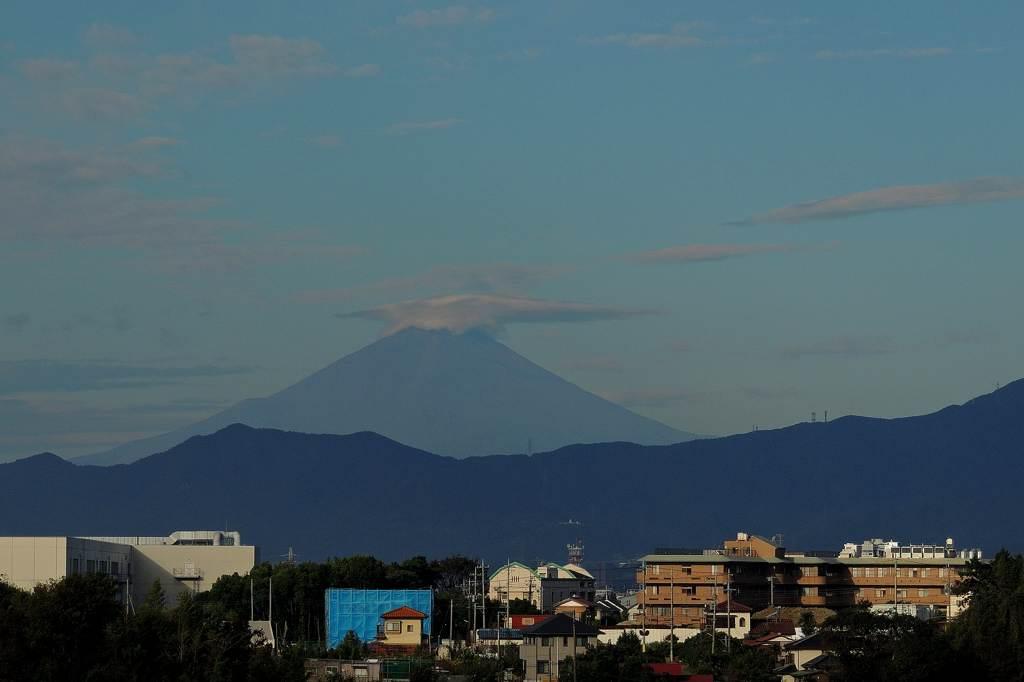 シメが入りました/今朝のカワちゃん/富士山に笠雲_b0024798_9594833.jpg