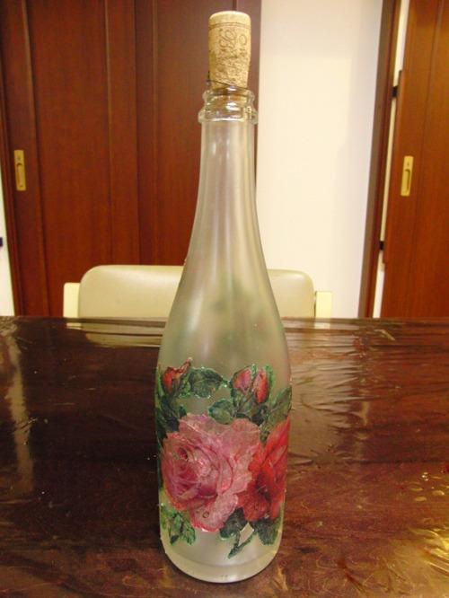 デコパージュ ~ 薔薇の瓶 ~_e0222340_17481461.jpg