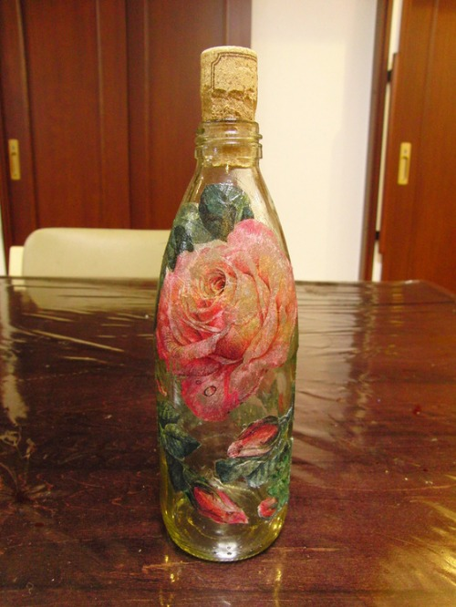 デコパージュ ~ 薔薇の瓶 ~_e0222340_17482896.jpg