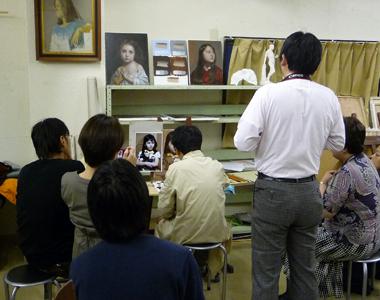 古吉弘の古典的技法クラス  (上層描き実演4回目)_b0107314_162658100.jpg