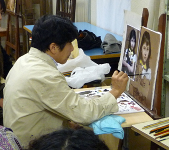 古吉弘の古典的技法クラス  (上層描き実演4回目)_b0107314_1627919.jpg