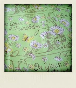 小ちゃなvintage誕生日カードとキャンドル _e0183383_5553175.jpg