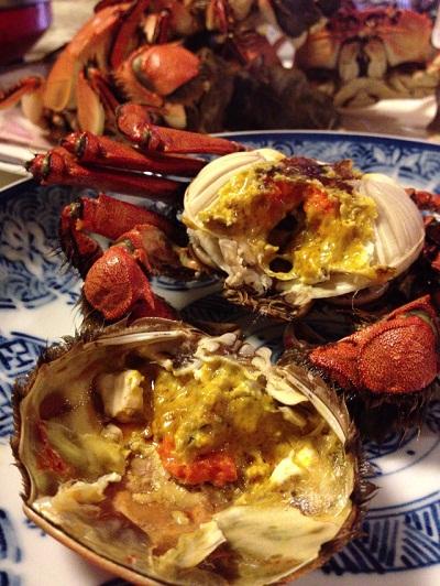 /// 秋の味覚、岸田川の「モクズ蟹」の湯で蟹をいただきました ///_f0112434_19432493.jpg