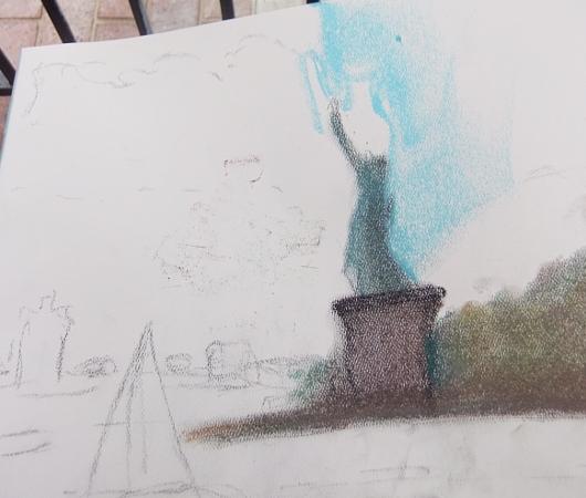 ニューヨークの公園でやってる無料の野外アート・クラス_b0007805_722493.jpg