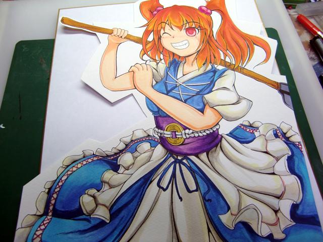【イラスト】色紙を描きました_a0293131_0245777.jpg