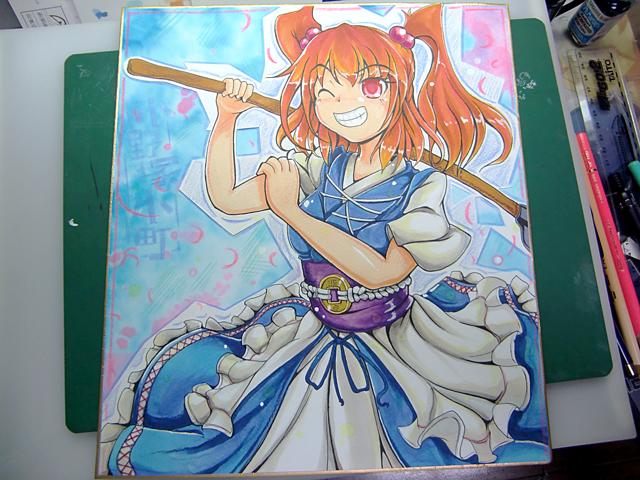 【イラスト】色紙を描きました_a0293131_0313652.jpg