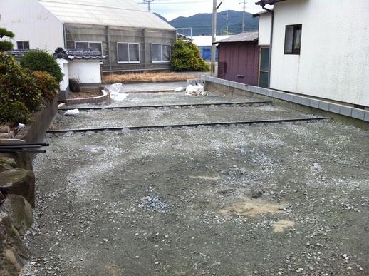 駐車場・フェンス工事_e0268569_16525388.jpg