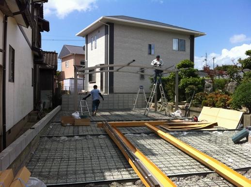 駐車場・フェンス工事_e0268569_16591564.jpg