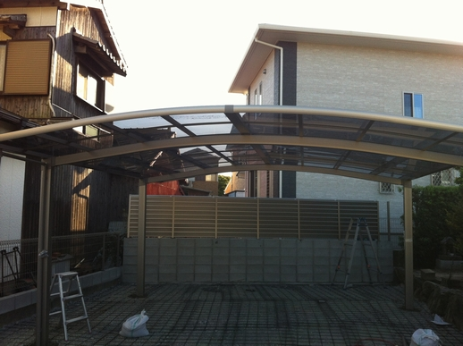 駐車場・フェンス工事_e0268569_16595410.jpg