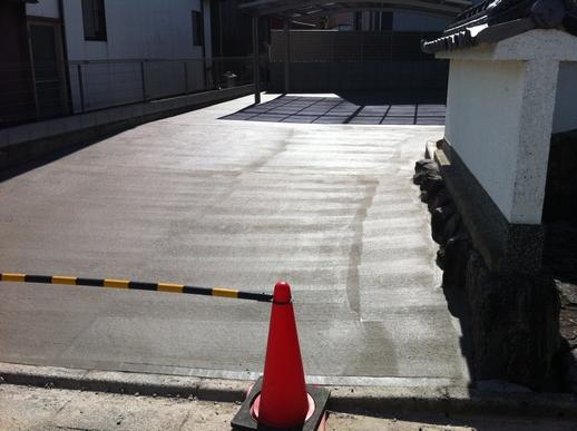 駐車場・フェンス工事_e0268569_1724397.jpg