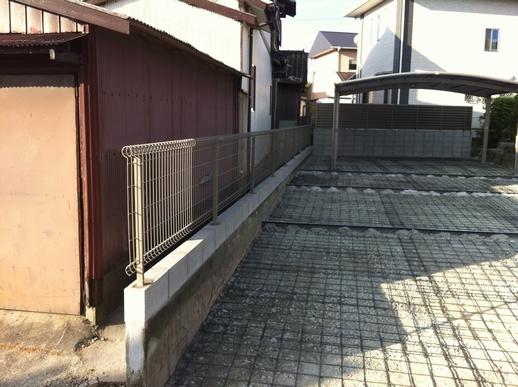 駐車場・フェンス工事_e0268569_1751911.jpg