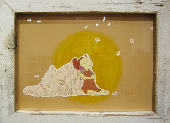 たまごくんたちてん    壁面展示「ヒツジと絵の具」スズキ ユウコ_e0134502_051243.jpg