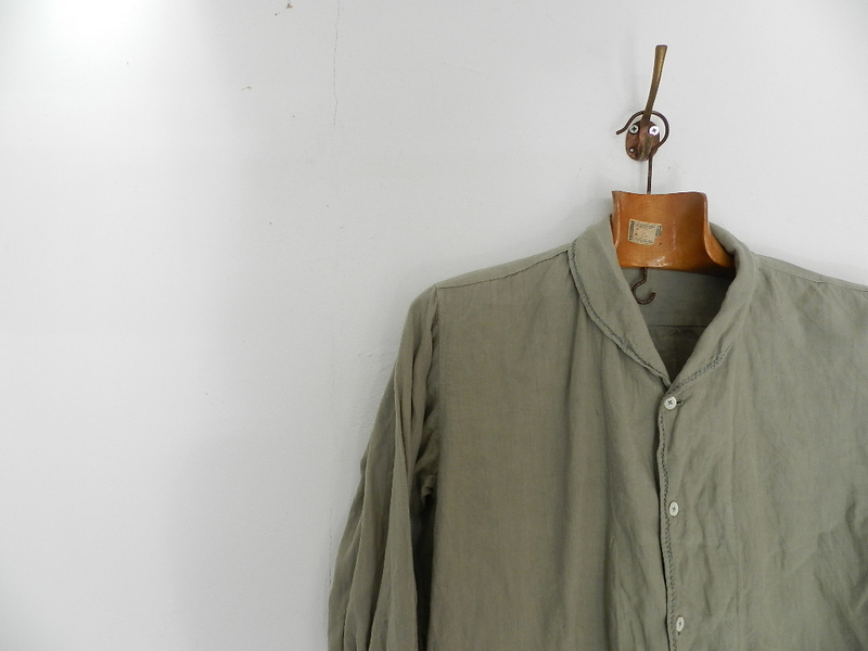 Linen grand-pa shirts over dyed with vintage gray_f0226051_11414535.jpg