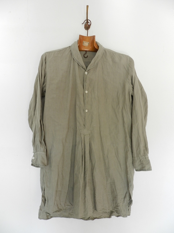 Linen grand-pa shirts over dyed with vintage gray_f0226051_1141765.jpg