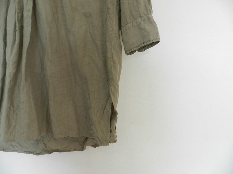 Linen grand-pa shirts over dyed with vintage gray_f0226051_1142147.jpg