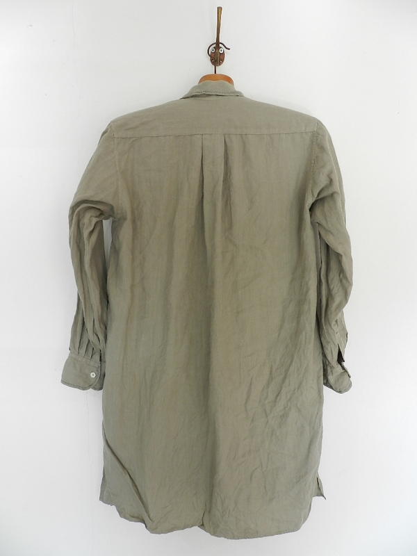 Linen grand-pa shirts over dyed with vintage gray_f0226051_11421962.jpg