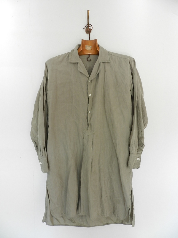 Linen grand-pa shirts over dyed with vintage gray_f0226051_11431749.jpg