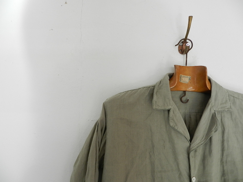 Linen grand-pa shirts over dyed with vintage gray_f0226051_11433735.jpg
