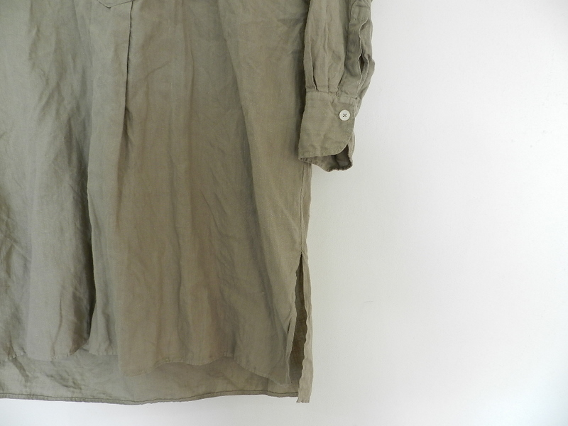 Linen grand-pa shirts over dyed with vintage gray_f0226051_114412.jpg