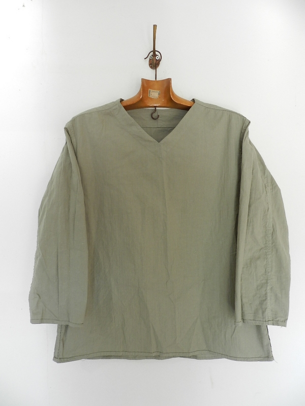 Linen grand-pa shirts over dyed with vintage gray_f0226051_11455485.jpg