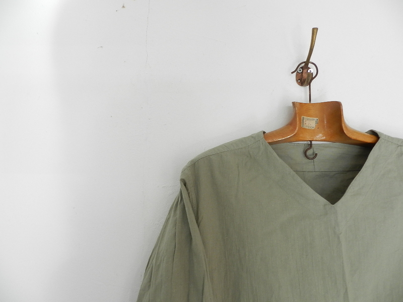 Linen grand-pa shirts over dyed with vintage gray_f0226051_11461134.jpg
