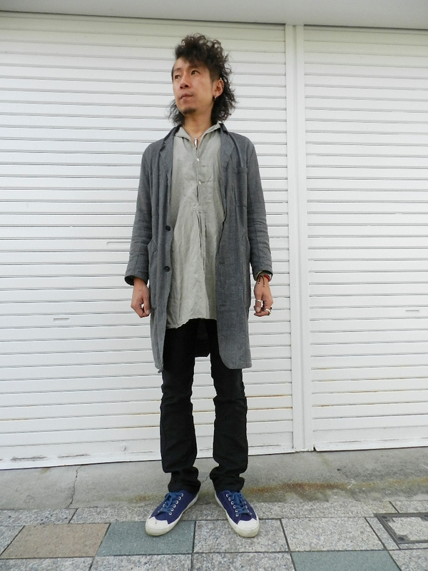Linen grand-pa shirts over dyed with vintage gray snaps_f0226051_22472458.jpg