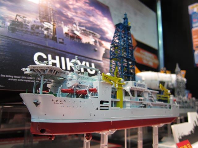 全日本模型ホビーショー2012レポート 深海掘削船「ちきゅう」編_c0166765_20221523.jpg