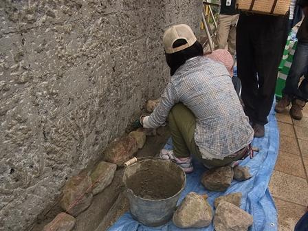 別府石の石積みワークショップ 1日目_e0251278_17553933.jpg