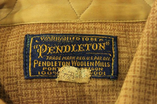 1930's PENDLETONウールシャツ。_d0121303_1950278.jpg