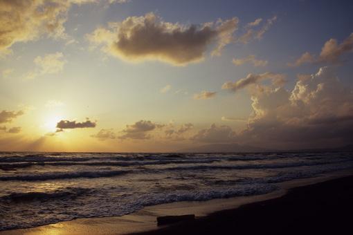 夕陽の海を…_b0259218_1162933.jpg