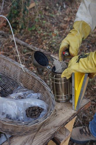 蜂の巣も冬の準備_f0106597_2222445.jpg