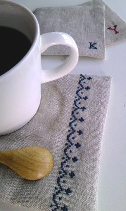 シンプル刺繍のカフェマット作り*レッスン_f0224568_1911917.jpg