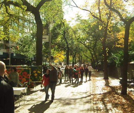 秋の陽射しで輝くニューヨークの美術館通り_b0007805_20101332.jpg
