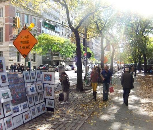 秋の陽射しで輝くニューヨークの美術館通り_b0007805_20154083.jpg