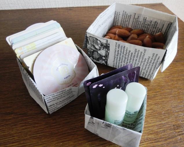 ハート 折り紙 新聞紙 袋 折り方 : santakoubo.exblog.jp