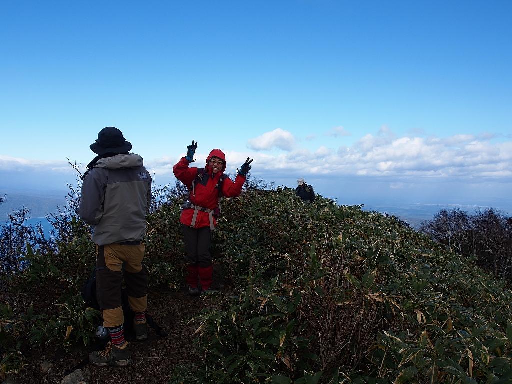 10月21日、風不死岳北尾根コース_f0138096_15223984.jpg