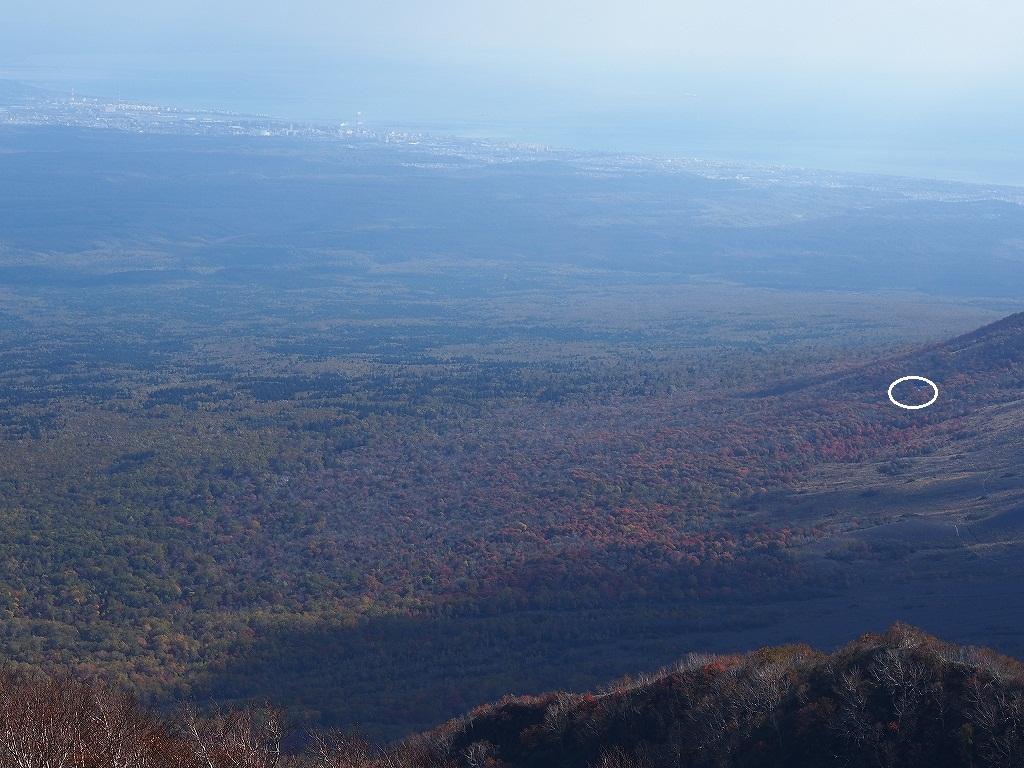 10月21日、風不死岳北尾根コース_f0138096_15225279.jpg