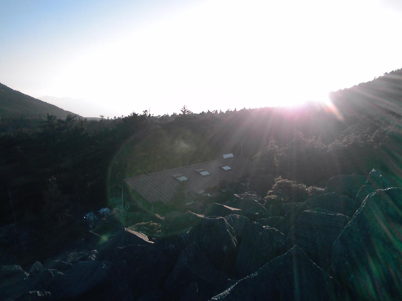 高見石からみる夕日_e0155231_23225056.jpg