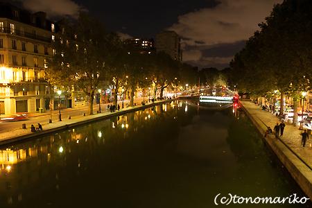サンマルタン運河の夜のお散歩_c0024345_5164954.jpg