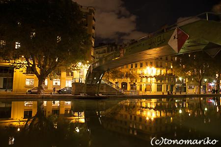 サンマルタン運河の夜のお散歩_c0024345_516684.jpg