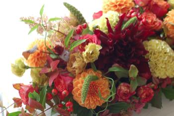 式典のテーブル装花_f0057564_1933750.jpg