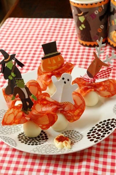 ハロウィンに!チョリソとウズラの卵のオードブル☆_d0104926_1523521.jpg