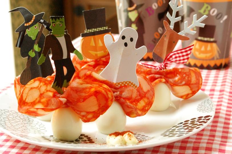 ハロウィンに!チョリソとウズラの卵のオードブル☆_d0104926_1573483.jpg