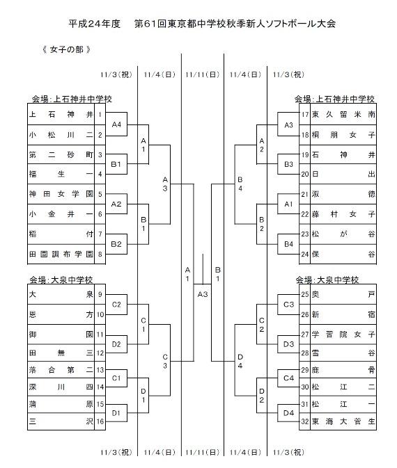 東京都中学校秋季新人ソフトボール大会_b0249247_235570.jpg